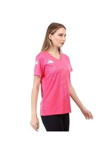 Kappa Kadın Poly T-Shirt Abuw  Pembe